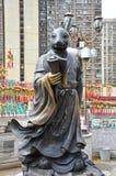 Hong Kong, China - 25 de junio de 2014: Conejo chino S del bronce del zodiaco Imágenes de archivo libres de regalías
