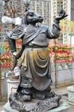 Hong Kong, China - 25 de junio de 2014: St chino del caballo del bronce del zodiaco Foto de archivo libre de regalías