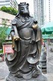 Hong Kong, China - 25 de junio de 2014: Stat chino de la rata del bronce del zodiaco Foto de archivo