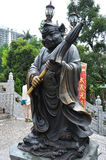 Hong Kong, China - 25 de junio de 2014: Stat chino del cerdo del bronce del zodiaco Imagenes de archivo