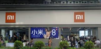 Hong Kong China 1 08 De Xiaomi loja 2018 de especialidade foto de stock royalty free