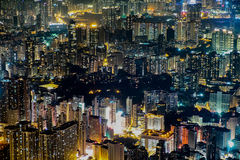 Hong Kong, China - FEB 10, 2017: This is actually a combined bui Stock Photo