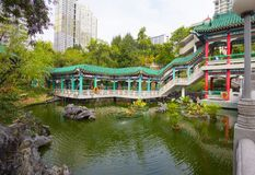 Hong Kong, China, Garden of good wishes in the temple complex of Wong tai Sin. royalty free stock image