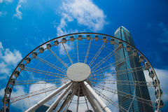 Hong kong, China, 2017 - Hong Kong Observation Wheel. Hong Kong Observation Wheel At Central Station .Hong kong ferris wheel stock images