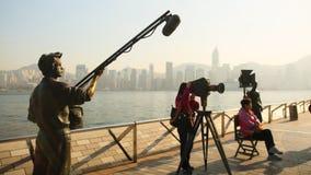 Hong Kong, China - 1. Januar 2016: Allee von Sternen auf der Insel von Kowloon in Hong Kong Die Hong Kong-Filmindustrie lizenzfreies stockbild