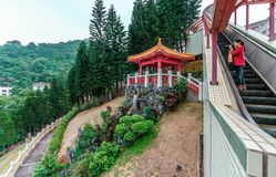 Po Fook Memorial Hall columbarium in Hong Kong is burial ground in Shatin location. royalty free stock image