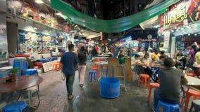 4k moving shot of restaurants in Hong Kong