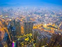 Hong Kong, China at Kowloon. Hong Kong cityscape with hazy skies in the Kowloon district Stock Photography