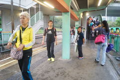 Hong Kong, China: Light Rail Station Royalty Free Stock Photography