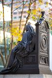 Statue of Queen Victoria in Hong Kong stock photography