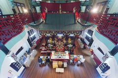 Chinese temple in Hong Kong, China royalty free stock photos
