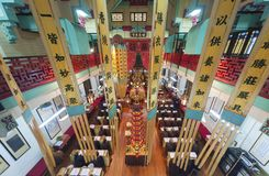 Chinese temple in Hong Kong, China stock photos