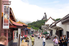 Big Buddha on Lantau Island Stock Photos