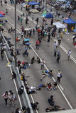 Hong Kong, China Oct. 4, 2014, Occupy Central, Protestors block roads in Hong Kong's Central business district. Stock Photos