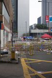 Hong Kong, China Oct. 4, 2014, Occupy Central, Protestors block roads in Hong Kong's Central business district. Stock Photo