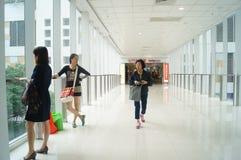 Hong Kong, China: Plaza de compra Imagem de Stock Royalty Free