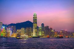 Hong Kong, China Skyline Stock Images