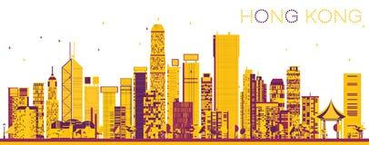 Hong Kong China Skyline abstrait avec des bâtiments de couleur illustration libre de droits