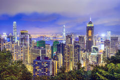 Hong Kong, China Skyline Royalty Free Stock Photo