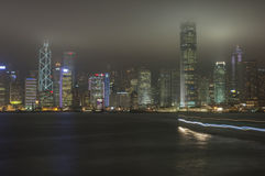 HONG KONG/CHINA 9TH MARCH 2007 - The city skyline by night Stock Photography