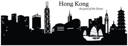 Hong Kong, China. Vector illustration of the skyline cityscape of Hong Kong, China vector illustration