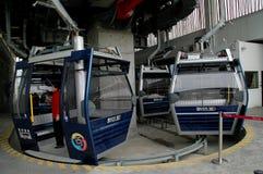 Hong Kong, Chine : Gondoles de funiculaire Photographie stock libre de droits