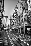 HONG KONG, CHINE - 27 NOVEMBRE 2011 : vue sur la route de Hennessy, Hong Kong le 27 novembre 2011 Photos libres de droits