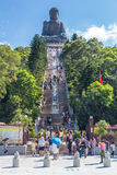 Hong Kong, Chine - vers en septembre 2015 : Escaliers à Tian Tan Big Buddha à PO Lin Monastery sur l'île de Lantau, Hong Kong Photo libre de droits