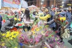 Hong Kong : Chinese New Year Market 2016 Royalty Free Stock Photography