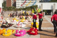 Hong Kong Chinese New Year royaltyfri bild