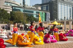Hong Kong Chinese New Year royaltyfria bilder