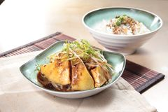 Chinese style steamed chicken cuisine royalty free stock photography