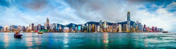 Hong Kong Chiny linia horyzontu Zdjęcie Royalty Free