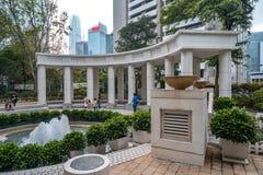 Hong Kong, Chiny, Hong Kong park w centrum miasta - fotografia stock