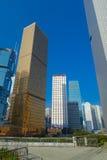 HONG KONG CHINY, STYCZEŃ, - 26, 2017: Nowożytni budynki w finansowym okręgu, lokalizować w Hong Kong mieście Zdjęcia Stock
