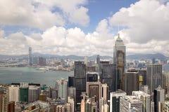 Hong Kong Chiny, Wrzesień, - 22, 2017: Widok z lotu ptaka centrali plac Zdjęcie Royalty Free