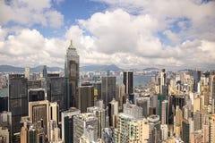 Hong Kong Chiny, Wrzesień, - 22, 2017: Widok z lotu ptaka centrali plac Zdjęcia Stock