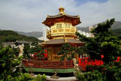 Hong Kong, Chiny: Złoty pawilon Fotografia Stock
