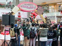 Hong Kong christmas dancing event in Metro City Plaza Stock Photos