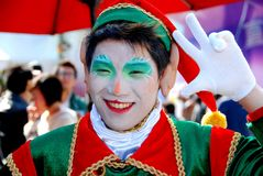 Hong Kong: Christmas Elf at Ocean Park Stock Photos