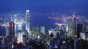 Hong Kong.  Cidade Timelapse. video estoque