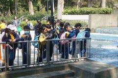 Hong Kong, Cina: attività di turismo della molla degli studenti Fotografie Stock Libere da Diritti
