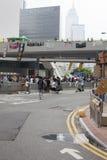 Hong Kong, Cina ottobre 4, 2014, occupano la centrale, strade del blocchetto dei protestatari nel centro direzionale di Hong Kong Immagini Stock