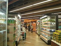 Hong Kong, Cina: Supermercato Fotografia Stock Libera da Diritti