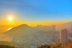 Hong Kong City Aberdeen area sunset Stock Photo