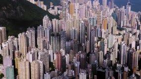 Hong Kong City Aerial stock footage