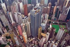 Hong Kong City aerial view Stock Photo