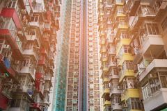 Hong Kong city apartment crowded downtown Royalty Free Stock Photography