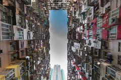 Hong Kong city apartment under view Royalty Free Stock Images