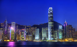 Free Hong Kong City At Night Stock Image - 45283131
